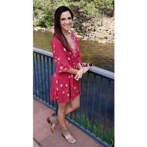 FP Boho Babydoll Swing Dress// XS